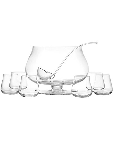 Schott Zwiesel Tritan Crystal, Concerto Set, Crystal Punch Bowl with Ladle and 6 Tumblers, Tall