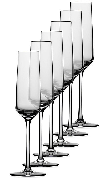 Schott Zwiesel Tritan Crystal, Pure Champagne Crystal Flute, Set of Six