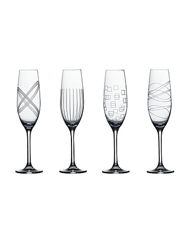 Royal Doulton Party Flute - Set of 4 (Assorted)