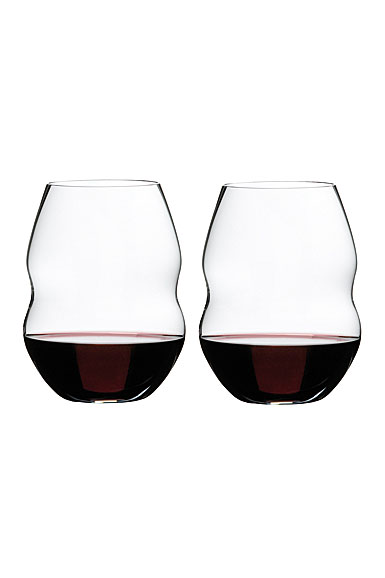 Riedel Swirl, Red Wine Crystal Wine Glasses, Pair