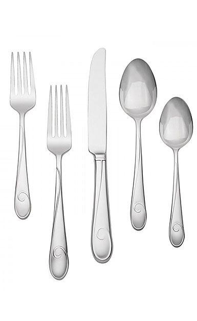 Waterford Flatware Ballet Ribbon, Stainless 5 Piece Place Setting