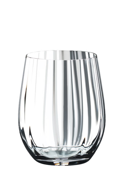 Riedel Optical O Whiskey Crystal Tumblers, Pair