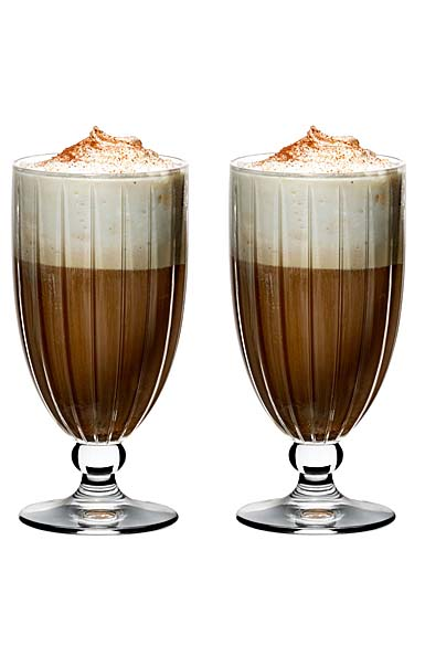 Riedel Sunshine Beer Tulip, Footed Iced Coffee, Pair