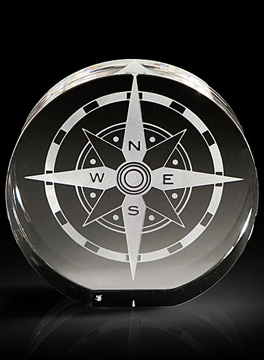 Steuben Desk Accessory, Compass Star