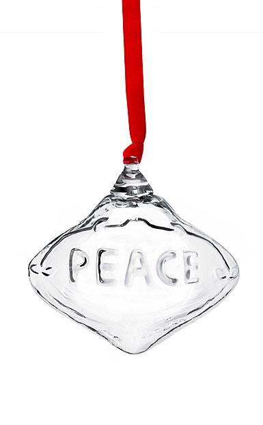 Steuben 2020 Peace Christmas Ball Ornament