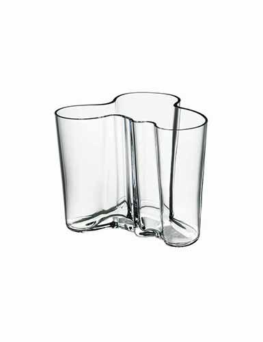 "Iittala Alvar Aalto 4 3/4"" Vase, Clear"