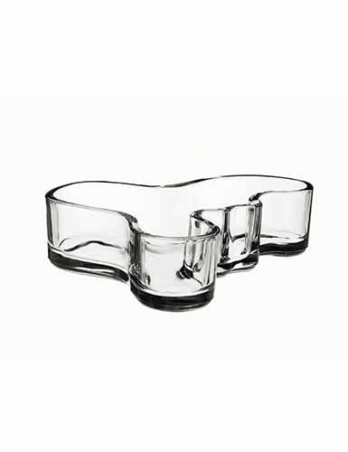 "Iittala Alvar Aalto Mini 5"" Bowl, Clear"