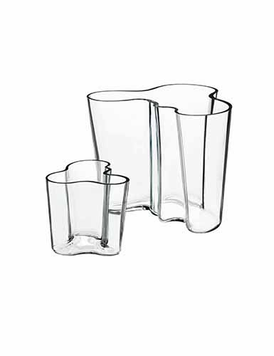Iittala Alvar Aalto Clear Vase, Set of 2