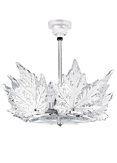 Lalique Crystal, Champs Elysees 1 Tier Crystal Chandelier Clear, Chrome