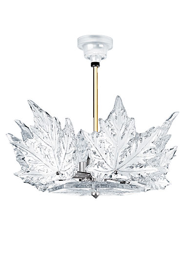 Lalique Crystal, Champs Elysees 1 Tier Crystal Chandelier Clear, Gilded