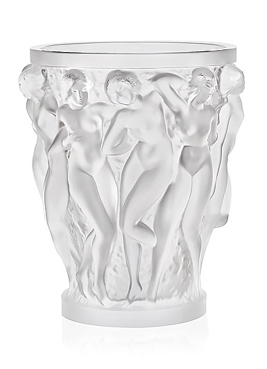 Lalique Crystal, Bacchantes XXL Crystal Vase, Clear, Limited Edition