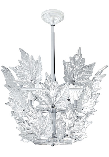 Lalique Crystal, Champs Elysees 3 Tiers Crystal Chandelier Clear, Chrome