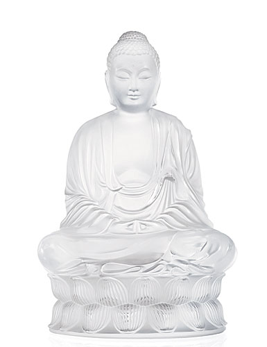 Lalique Crystal, Motif Buddha Small, Clear