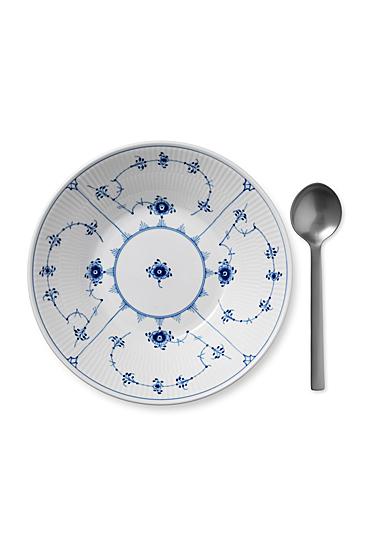 "Royal Copenhagen, Blue Fluted Plain Pasta Bowl 9.5"""
