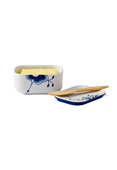 """Royal Copenhagen, Blue Fluted Mega Butter Jar With Lid 5"""""""