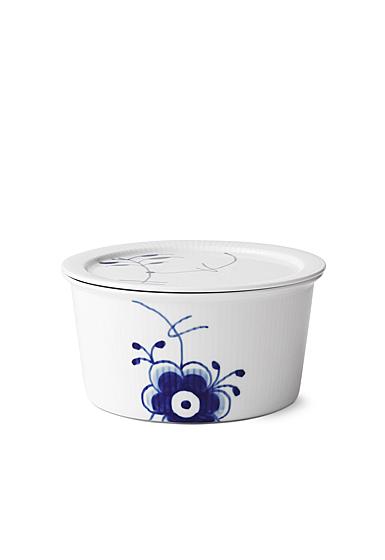 Royal Copenhagen, Blue Fluted Mega Dish With Lid 1Qt