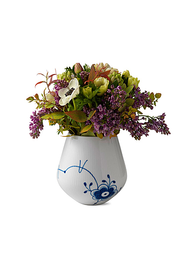"Royal Copenhagen, Blue Fluted Mega Vase 6"""