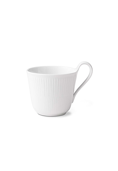 Royal Copenhagen, White Fluted Mega High Handle Mug 11oz.