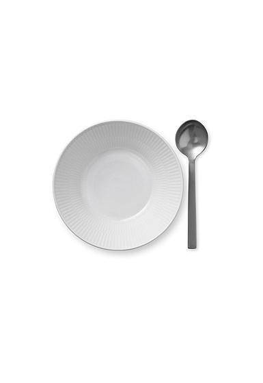"""Royal Copenhagen, White Fluted Dessert Bowl 6.75"""""""