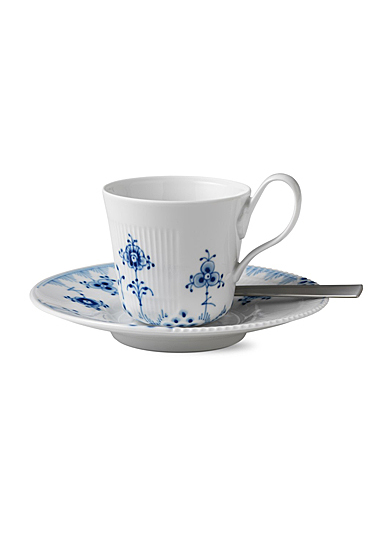Royal Copenhagen, Blue Elements High Handle Cup and Saucer