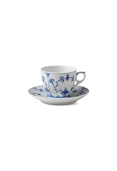 Royal Copenhagen, Blue Fluted Plain Coffee Cup and Saucer 5.5oz.