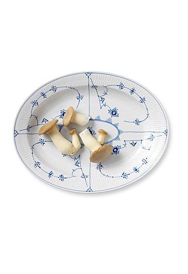 "Royal Copenhagen, Blue Fluted Plain Oval Platter Large 14.25"""