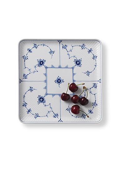 Royal Copenhagen, Blue Fluted Plain Square Plate Large