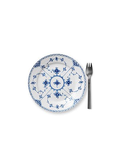 "Royal Copenhagen, Blue Fluted Half Lace Dessert Plate 7.5"""