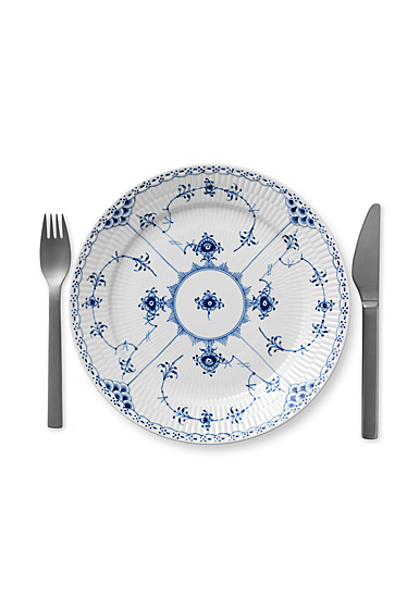 "Royal Copenhagen, Blue Fluted Half Lace Luncheon Plate 9.75"""