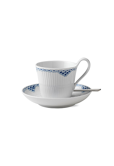 Royal Copenhagen, Princess High Handle Cup and Saucer 8.5oz.