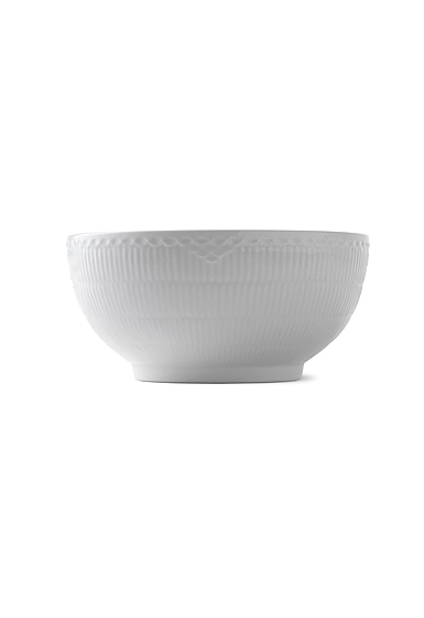 Royal Copenhagen, White Fluted Half Lace Bowl 3.25 Qt