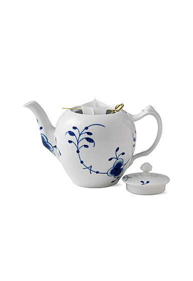 Royal Copenhagen, Blue Fluted Mega Tea Pot 1Qt
