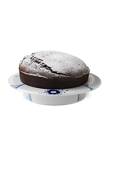 "Royal Copenhagen, Blue Fluted Mega Footed Cake Plate 12.5"""