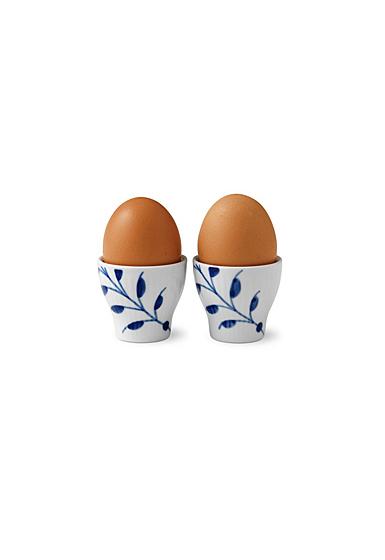 "Royal Copenhagen, Blue Fluted Mega Egg Cup Pair 2"""