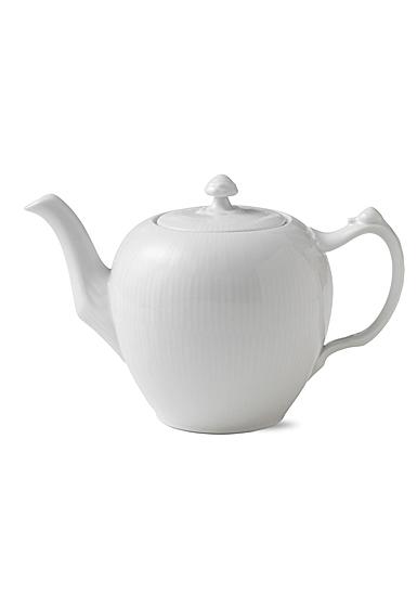 Royal Copenhagen, White Fluted Tea Pot 1Qt
