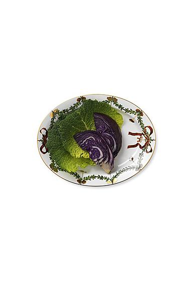 """Royal Copenhagen, Star Fluted Christmas Oval Platter Large 14.25"""""""