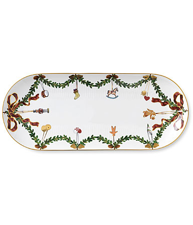 Royal Copenhagen, Star Fluted Christmas Oblong Dish 15.5""