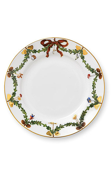 Royal Copenhagen, Star Fluted Christmas Dessert Plate, Single