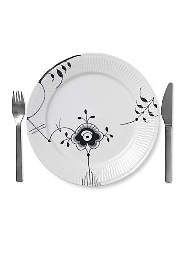 """Royal Copenhagen, Black Fluted Mega Dinner Plate #6 10.75"""""""