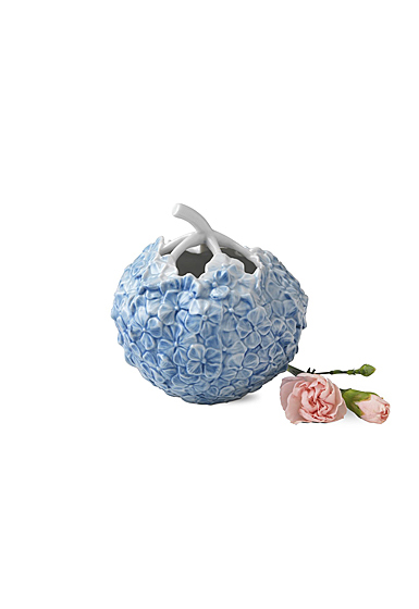 "Royal Copenhagen, Hydrangea Vase 4"" Blue"