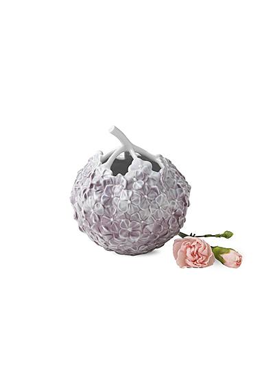 "Royal Copenhagen, Hydrangea Vase 4"" Lilac"