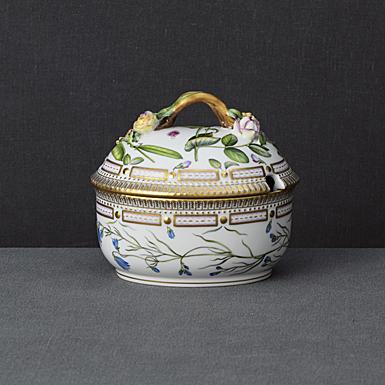 Royal Copenhagen, Flora Danica Bowl With Lid 20.25oz., Limited Edition