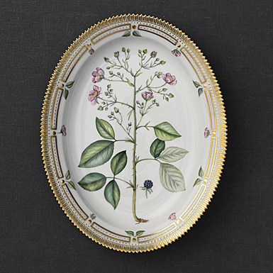 "Royal Copenhagen, Flora Danica Oval Platter 14.5"", Limited Edition"