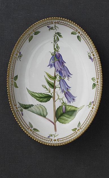 Royal Copenhagen, Flora Danica Small Bowl Oval 27oz., Limited Edition