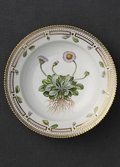"""Royal Copenhagen, Flora Danica Rim Soup Bowl 8.25"""", Limited Edition"""