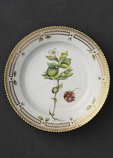 "Royal Copenhagen, Flora Danica Salad Plate 7.75"", Limited Edition"