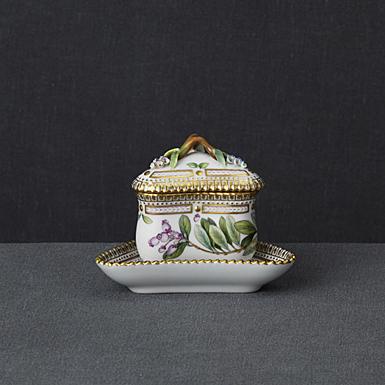 Royal Copenhagen, Flora Danica Custard Cup Triangular 3.3oz., Limited Edition