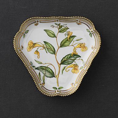 "Royal Copenhagen, Flora Danica Triangular Compote 5"", Limited Edition"