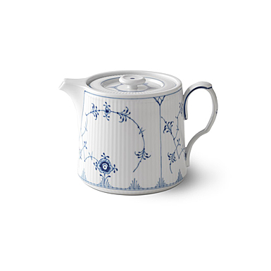 Royal Copenhagen, Blue Fluted Plain Teapot 25oz.