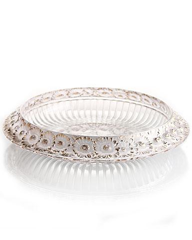 Lalique Marguerites Bowl, Gold